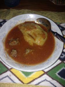 Neat fufu and light soup